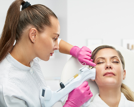 PRP tijdens behandeling Sarasin Clinic